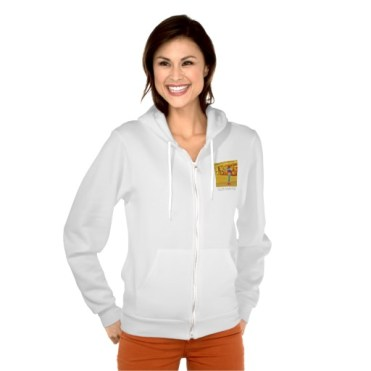 Pietrasanta Twist, Women, American Apparel Flex Fleece Zip Hoodie, Front, Model, White